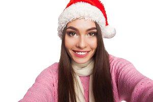 model wearing white scarf