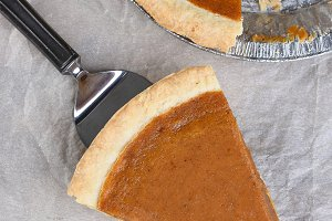 Fresh Baked Pumpkin Pie