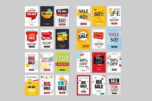 Set of sale website banner templates