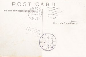 Vintage postcard postmarked 1909