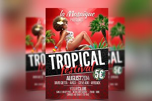TROPICAL FESTIVAL PARTY FLYER