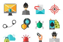 Computer safety vector icons