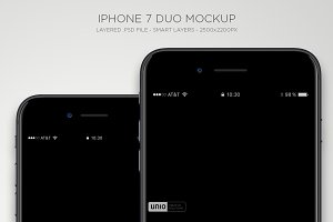 iPhone 7 Duo Mockup