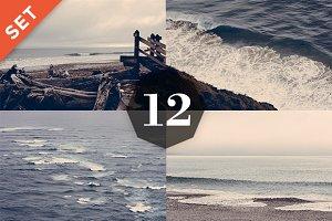12 Vintage Photos – Ocean Landscapes