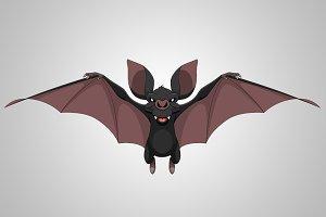 Funny bat smiling