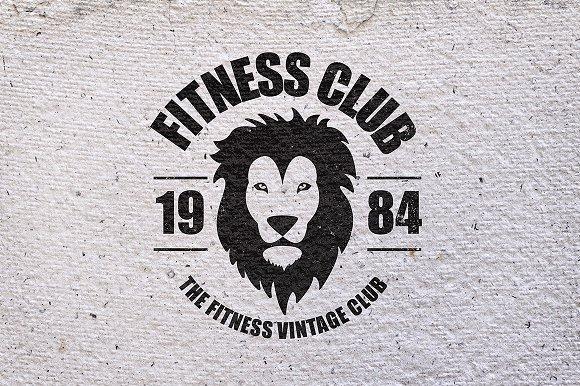 Gym Workout Minimal Logos