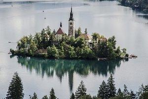 Church on an Island on the Lake