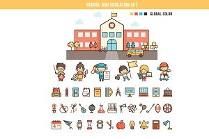 school infographic element