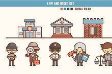 law and order infographic element