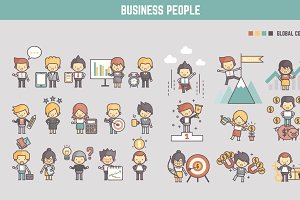business people infographic element