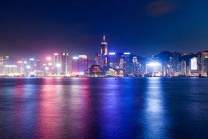 Night view of Hong Kong