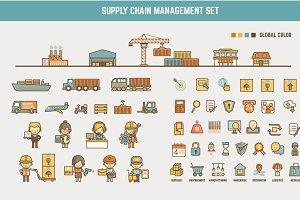 supply chain infographic element