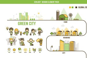 Ecology infographic element pack