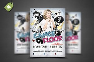 Dance Floor Flyer Template