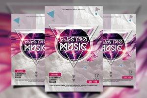 Electro Music / Minimal Flyer