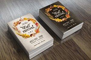 Fall Festival - Invitation