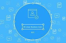 48 Linear Business Icons