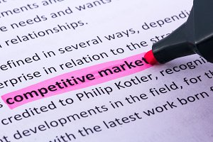Competitive market word highlighted