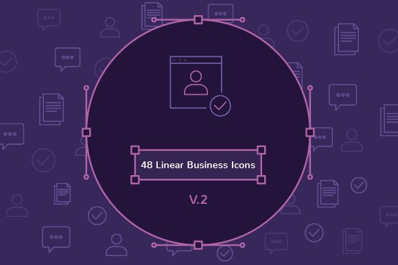 48 Linear Business Icons V.2 - Icons