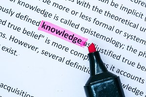 Knowledge word highlighted