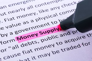 money supply word highlighted