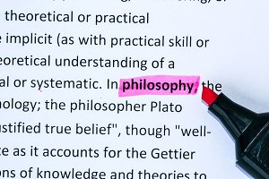 Philosophy word highlighted