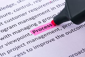 Process word highlighted