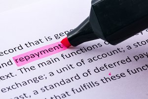 Repayment word highlighted