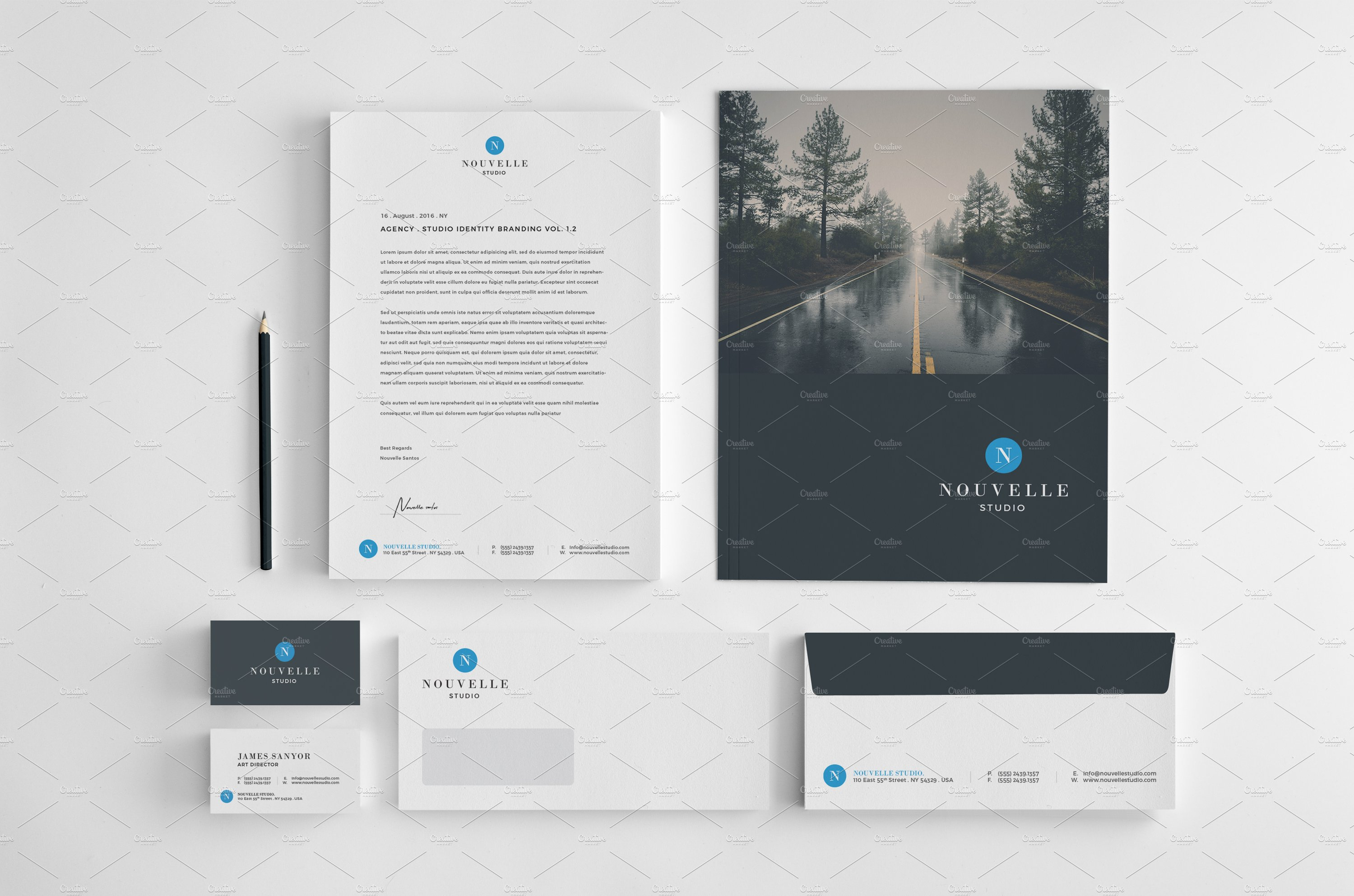 Nouvelle Corporate Stationery V4 ~ Templates ~ Creative Market