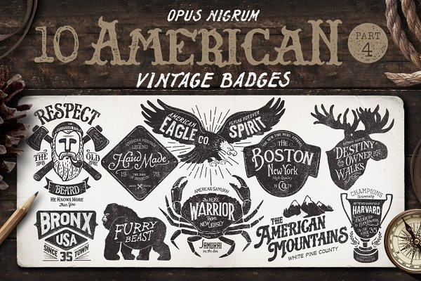 American Vintage Badges Part 4