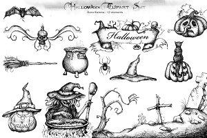 Halloween Clipart Set
