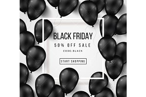 Black friday balloons