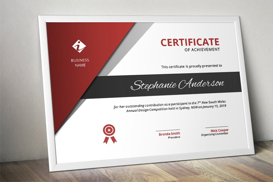 Corporate business certificate stationery templates creative corporate business certificate stationery templates creative market pro yadclub Gallery