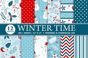 Winter Time Digital Paper