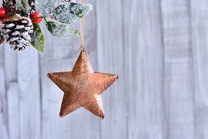 Bronze xmas star.