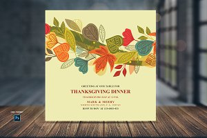 Thanksgiving Dinner Invitations Card