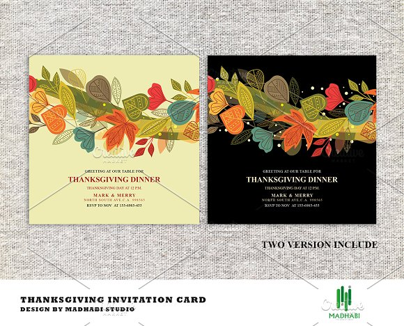 thanksgiving dinner invitations card invitation templates