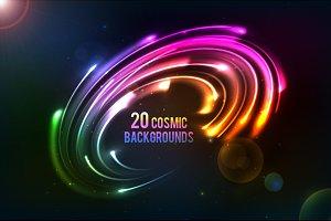 20 shining cosmic lights backgrounds