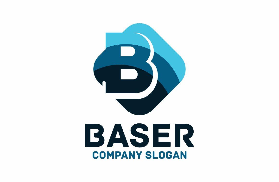 Letter b logo logo templates creative market for Logo b b