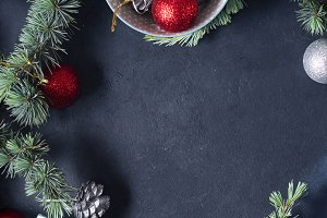 Christmas background on black