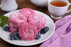 Homemade  berry  marshmallow