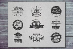 Airplane Badge & Logo Designs