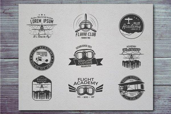 Airplane Badge & Logo Designs