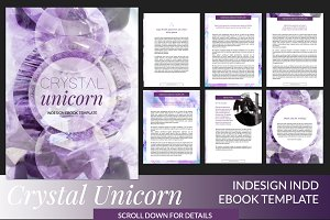 Crystal Unicorn ID Ebook Template