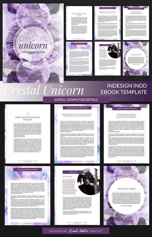 Crystal Unicorn ID Ebook Template