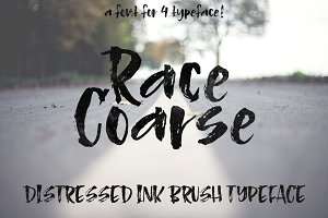 Race Coarse - an inky brush font
