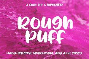 Rough Puff - a cute distressed font