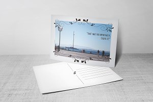 Postcard Template (w/ photo)
