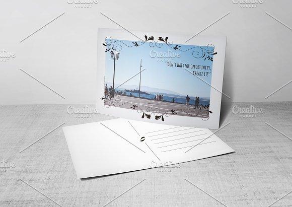 Postcard Template W Photo