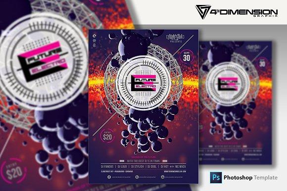 Future Electro A4 Flyer Template Flyer Templates Creative Market